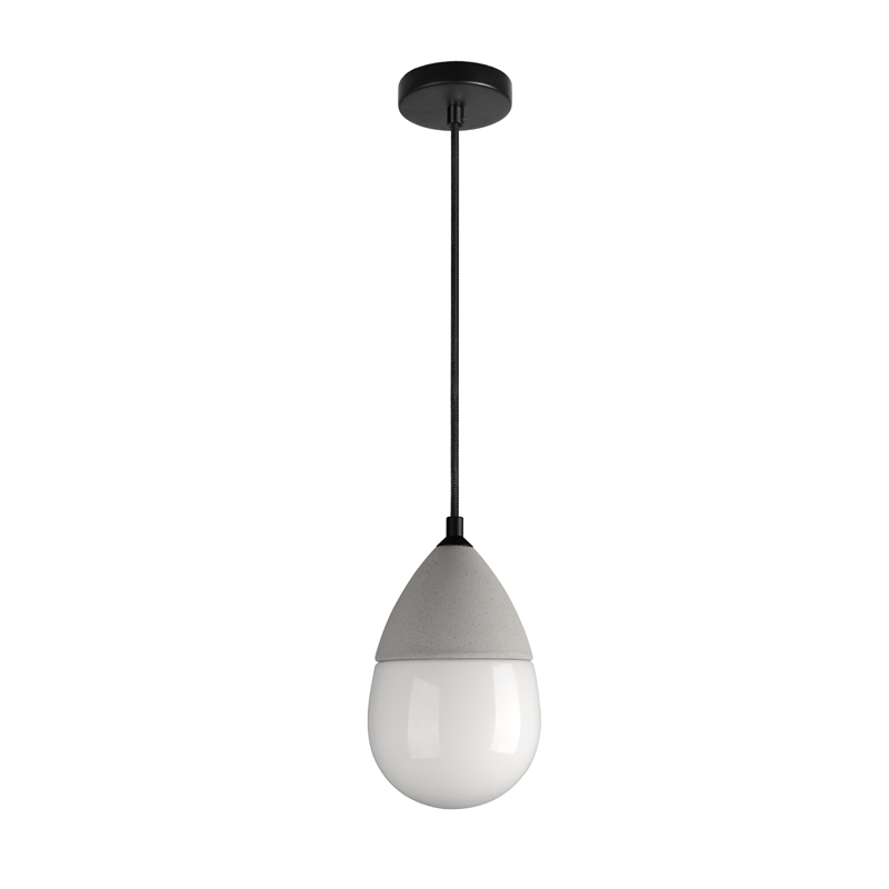 Concrete glass pendant lamp MH-2560