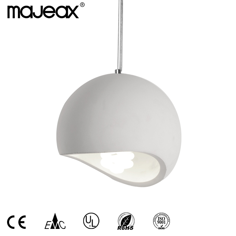 Round plaster hanging lamp MH-2300